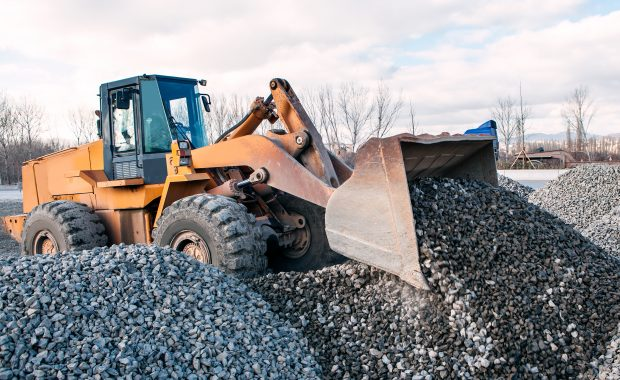 loading procedures with gravel