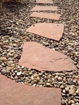 Stepping Stones With Pea Gravel