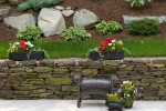 Stone Wall With Mulch