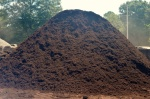 Rustic Brown Mulch Pile